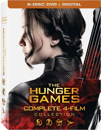 The Hunger Games: Complete 4 Film Collection DVD Boxed