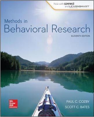 Methods in Behavioral Research (12th Edition)