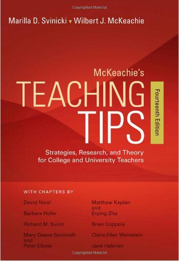 McKeachie's Teaching Tips (14th Edition)