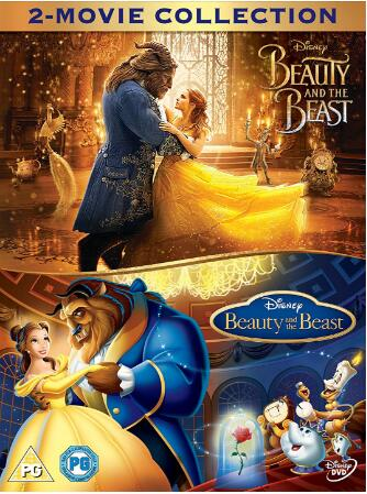 Beauty & The Beast Live Action Animated Doublepack
