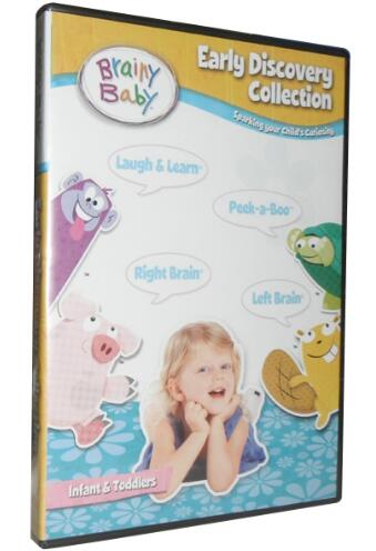 Brainy Baby Early Discovery 4 DVD Pack Collection Deluxe Edition